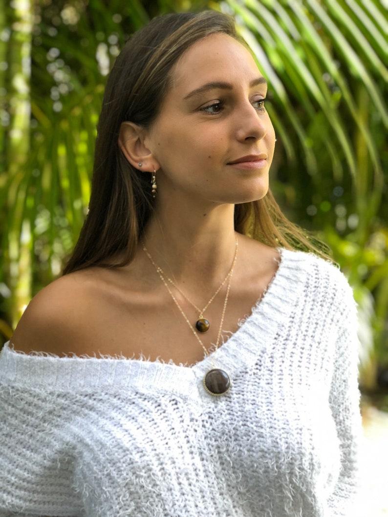 Celia Necklace Boho necklace Pendant necklace Jasper necklace Gemstone necklace