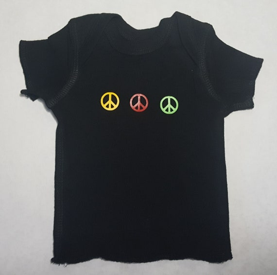 f7f709d3 Peace Signs 100% Cotton T Shirt Sizes NB to 18 months | Etsy