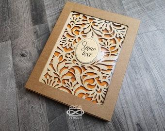 Wood Notebook, Personalised Journal, Wooden Guestbook, Wood Journal, Spiral Notebook, Planner, Lasercut Notebook, A5 Wooden Notebook, + Pen
