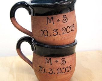 Personalized CUSTOM Mug/ Large Coffee Mug/Ceramic Tea Mug/Wedding Gift / Shower Gift/Anniversary Gift/Romantic Gift/Handmade pottery mug