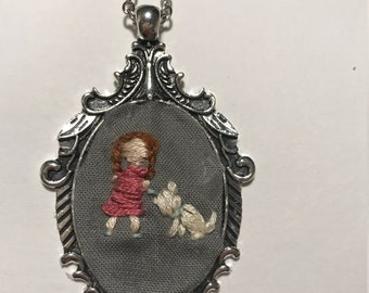 Custom Pet Embroidered Necklace