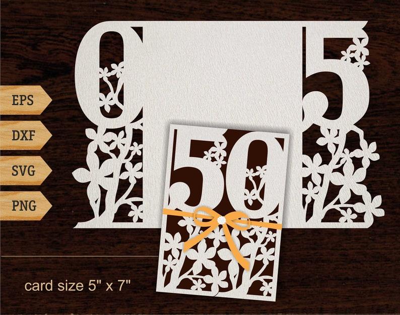 50th Birthday Svg 50 Years Card 5x7 SVG Gift
