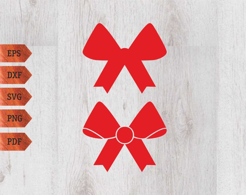 Christmas Bow Svg.Christmas Bow Svg Bow Svg Bow Clipart Silhouette Cut File Christmas Clipart Cnc Cutting Vector File Red Bow Svg Cut Template
