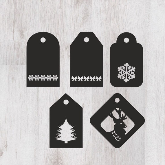 Christmas Tags Svg Christmas Gift Labels Cut File Template Etsy