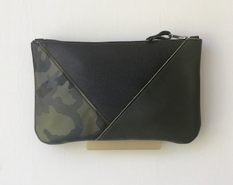 Trinity Clutch, Handheld Two-tone Leather Bag - Limted Edition