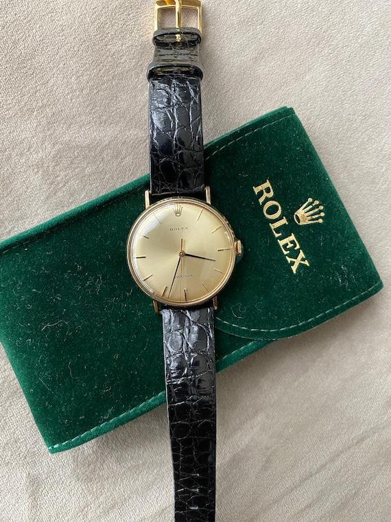 Rare Rolex Precision 9ct Gold Manual Wind Wristwat