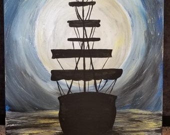 Big Pirate Ship Painting
