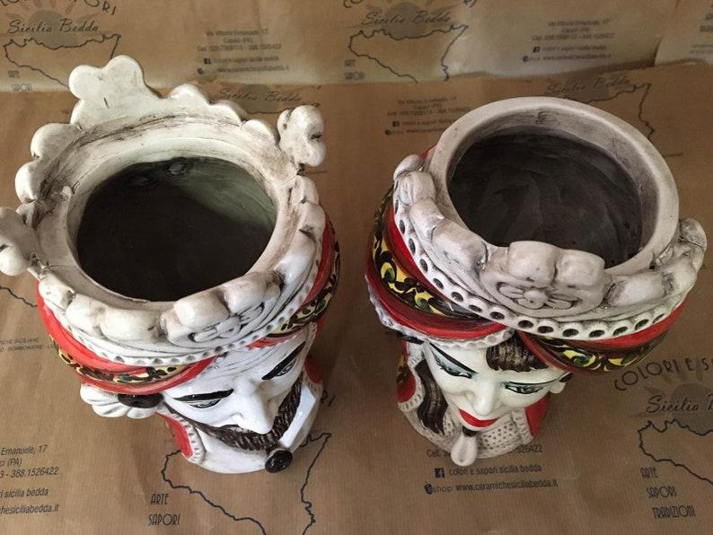 SICILIAN HEAD Sicilian Ceramic Moor's Head of | Etsy