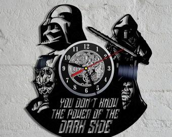 Star Wars Vinyl Wall Clock, Wall Clock Vintage, Han Solo Gift, Birthday Gift, Darth Vader Vinyl Record Wall Clock, Wall Record Clock