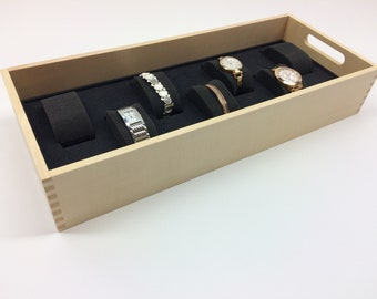 Carré Watches | Storage for up to six watches in a high quality wooden tray | Made in Black Forest