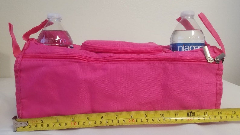 Summer Infants stroller cup holder baby bottle keys bag diaper organizer Black