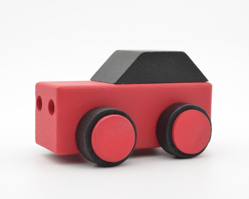 Wooden Toy Car Handcrafted Hand Painted