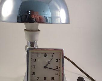 LIGHT CLOCK VINTAGE Art Deco   Design from the 40's