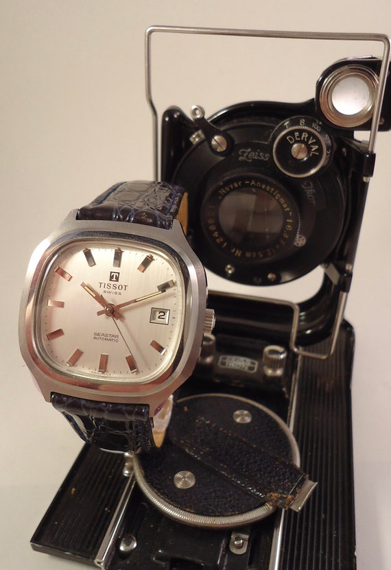 TISSOT AUTOMATIC SEASTAR T12 DIAL NEW OLD STOCK VINTAGE REPLACEMENT FROM 1970