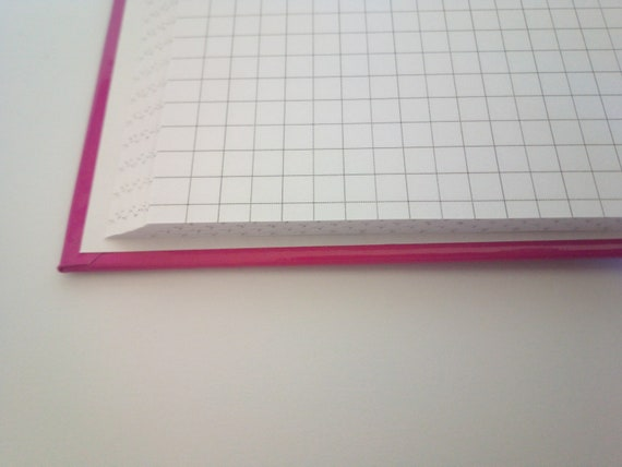 A4 192 Page 5mm square 100gsm Hard cover Work Exercise Notebook A-Level maths
