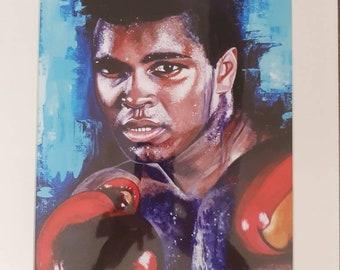 Muhammad Ali Giclee mounted print