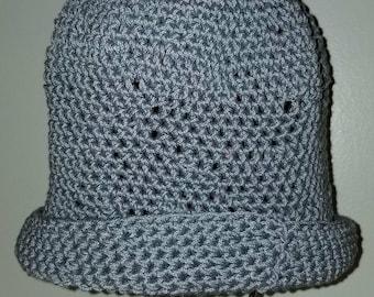 Blue Gray Crochet Hat