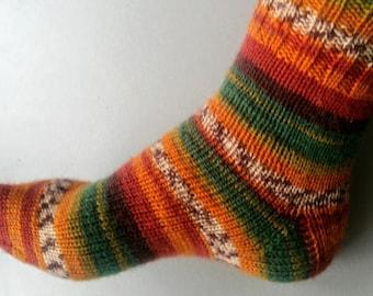 Hand Knit Socks Etsy