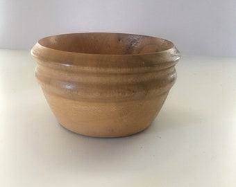 Pale Wooden Bowl Small