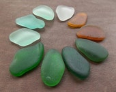 Bulk Quality Large natural Sea glass pendant pcs for Jewelry making Crafts Genuine surf tumbled Spanish seaglass 3,7cm-4,5cm, 1,4 quot -1,8 quot