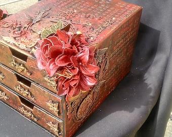 Jewelry box or secret, baroque, steampunk