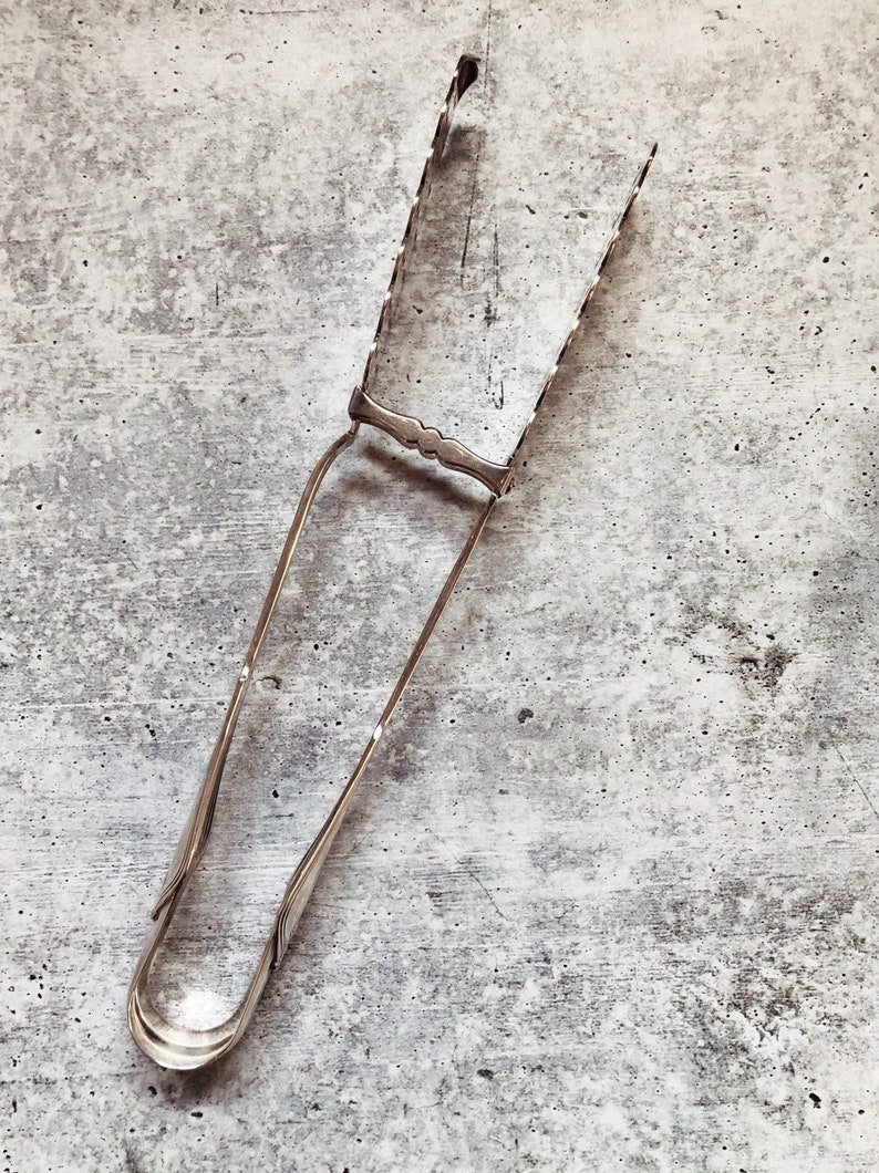 Antique Argent Plaqué Tiffany & Co Asperges Servant Tongs