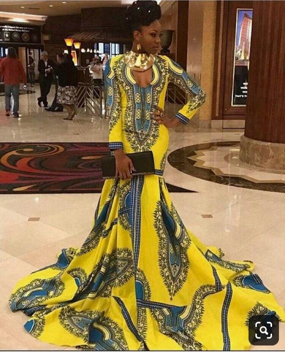 African Brides maid African ankara Dress Ankara Knee lenght dress Ankara Dress African Bridesmaid Dress African clothing for women