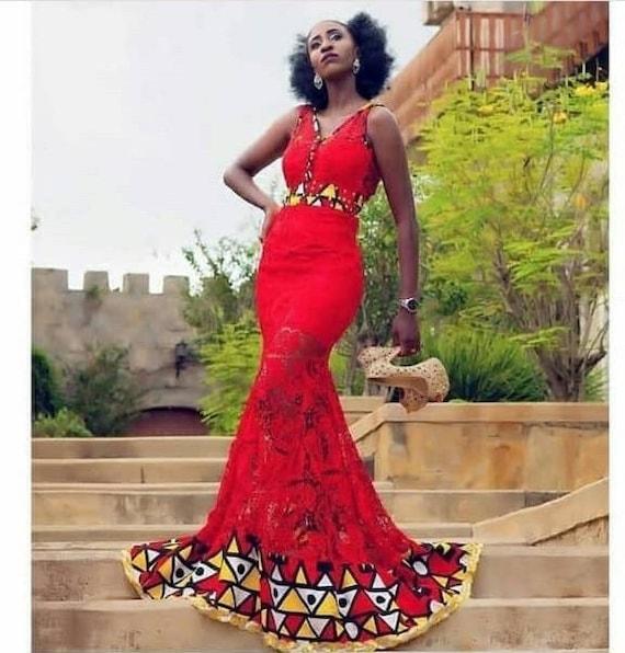 African Print DressAfrican clothingAfrican evening dressAfrican long dressAfrican prom dressgreen Ankara dress