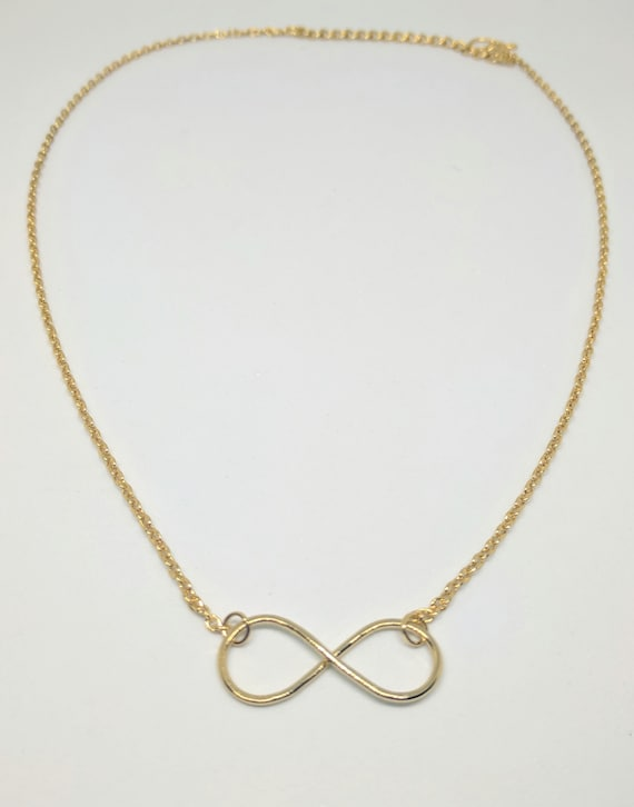 Infinity Gold Necklace Infinity Symbol Necklace Ethical Etsy