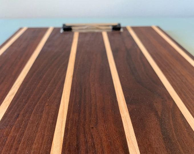 Clipboard • Walnut Wood • Handmade Gift • Personal Gift • Menu Clipboard • Photography Display • Office Clipboard • Restaurant Menu Board