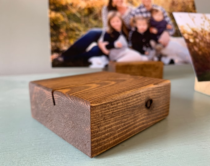 Picture Holder • Picture Stand • Wood Photo Holder • Wood Photo Stand • Housewarming Gift • Picture Display • Art Display