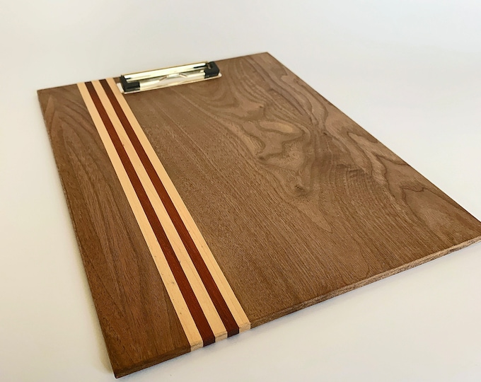 Clipboard 11 x 17 • Walnut Wood • Handmade Gift • Personal Gift • Menu Clipboard • Photography • Office Clipboard • Restaurant Menu Board