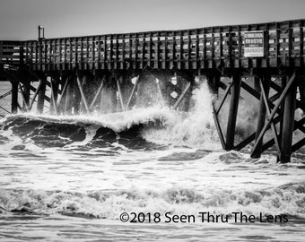 Approaching Storm - Black & White - Photographic Print