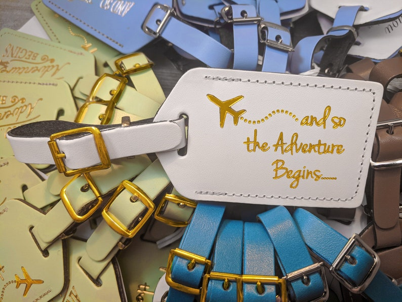 BULK LUGGAGE TAGS Gold  Discount Pricing for weddings bridal image 0