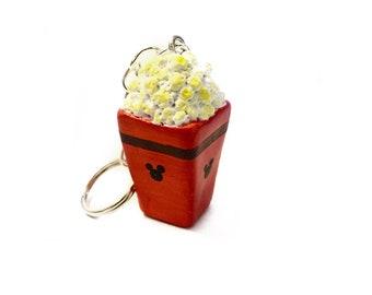 Disney Park Popcorn Key Chain