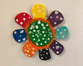 Colorful Flower Magnet