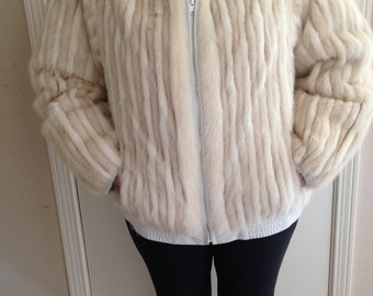 Natural Mink and Leather Reversible Jacket