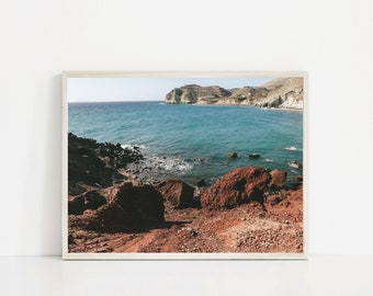 Red Beach Unframed Photo Print