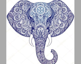 Elephant Mandala cross stitch kit