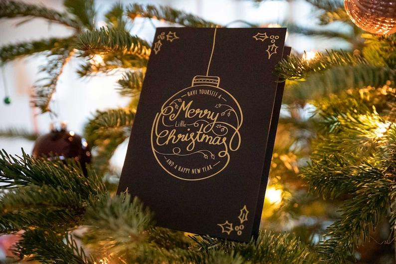 Christmas Card Black