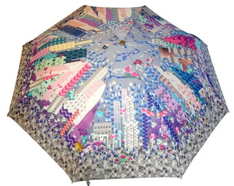 City Center Umbrella (unique design, automatic, three-folding, 27 cm length)