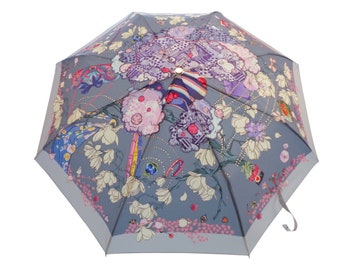 After Party Umbrella (unique design, automatic, three-folding, 27 cm length)