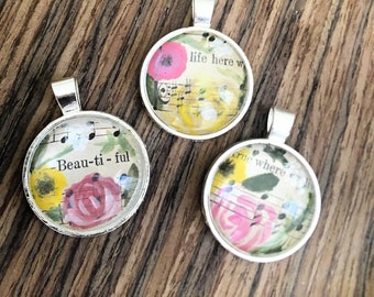 Floral Hymnal pendant