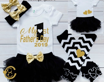 851afdfff Baby Girl Fathers Day Outfit, Baby Girl Clothes, First Fathers Day Gift, My  First Fathers Day 2019, Happy Fathers Day Outfit Baby Girl, CF1B