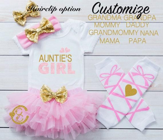 aunties bestie Shirt gold glitter bodysuit grandmas bestie baby girl Grandmas girl Baby girl clothes