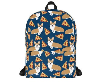 b002a7200fde Corgi Pizza Backpack - cute corgi back to school pizza pattern