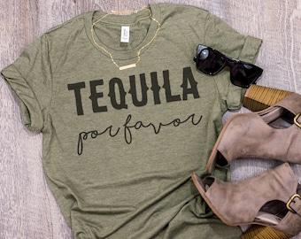 Tequila Shirt Margaritas Por Favor Cinco De Mayo Drinking Funny 21st Birthday Party Favors Ladies Unisex Tshirt