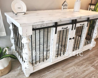 THE FINE RUSTIC  Dog kennel,Dog Crate,Custom kennel design