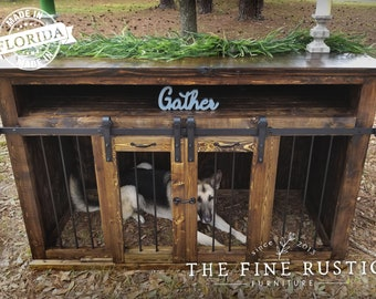 BEST Easy Lock Kennel. Custom Large Double Dog kennel/Double dog crates