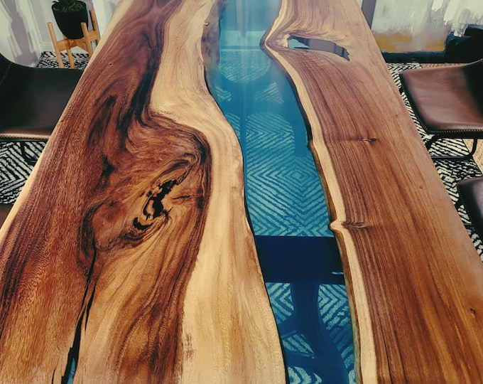 SALE - Live edge Epoxy tables, Ready to ship in 14 Days, Dining tables, Resin River table